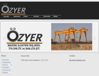 ozyermakine.com.tr screenshot