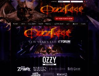 ozzfest.com screenshot