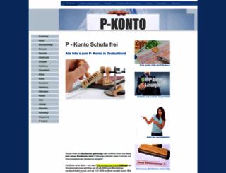 p-konto-schufafrei.de screenshot