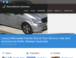 p2pcharters.com.au screenshot