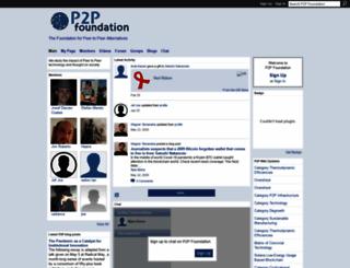 p2pfoundation.ning.com screenshot
