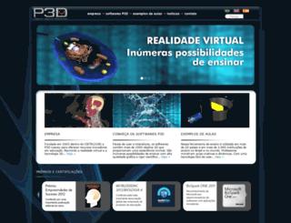 p3d.com.br screenshot