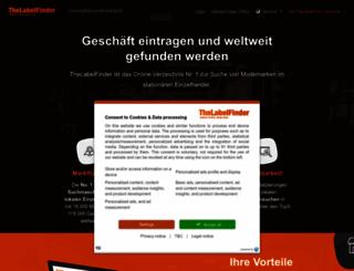 pa.thelabelfinder.de screenshot