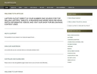 paaarticles.com screenshot