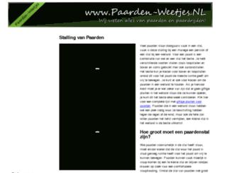 paarden-weetjes.nl screenshot
