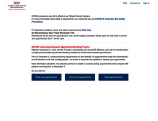 pabs.calgarylabservices.com screenshot