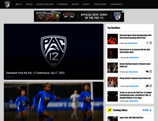 pac-12.org screenshot
