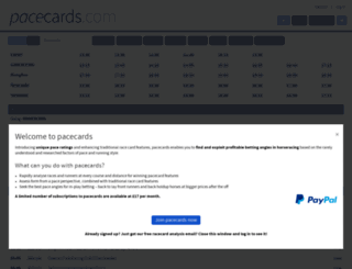 pacecards.com screenshot