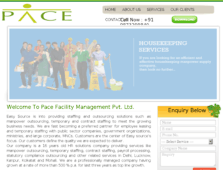 pacefacility.co.in screenshot