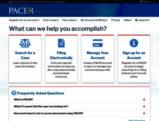pacer.gov screenshot