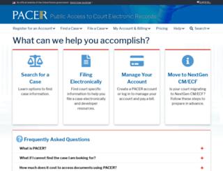 pacer.uscourts.gov screenshot