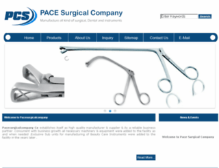 pacesurgicalcompany.com screenshot