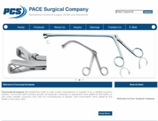 pacesurgicalcompany.com screenshot