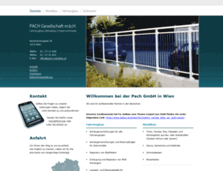 pach-metallbau-wien.at screenshot
