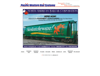 pacific-western-rail.com screenshot