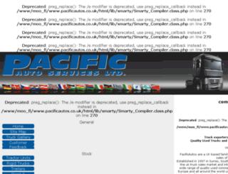 pacificautos.co.uk screenshot