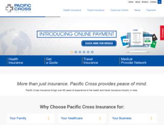 pacificcross.com screenshot