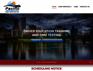 pacificdrivereducation.com screenshot