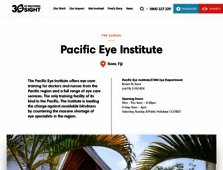 pacificeyeinstitute.org screenshot