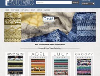 pacificfabrics.com screenshot