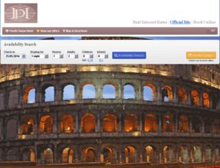 pacifichotelrome.reserve-online.net screenshot