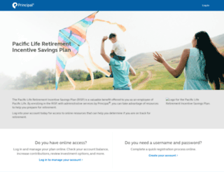pacificlife.principal.com screenshot