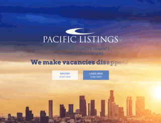 pacificlistings.com screenshot