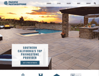 pacificpavingstone.com screenshot