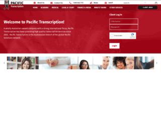 pacifictranscription.com.au screenshot