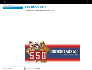 pack-550.trooptrack.com screenshot