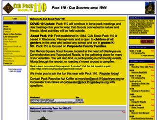 pack110gladwyne.org screenshot