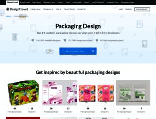 packaging.designcrowd.co.in screenshot
