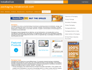 packaging.indiabizclub.com screenshot