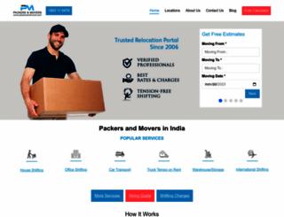 packersandmover.com screenshot