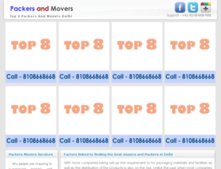 packersandmoversdelhi.just2search.com screenshot