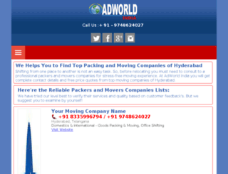 packersandmovershyderabad.adworld-india.co.in screenshot