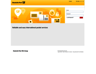 packet.deutschepost.com screenshot