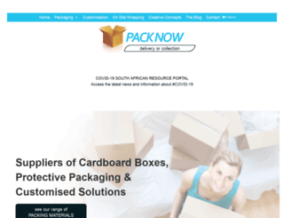 packnow.co.za screenshot