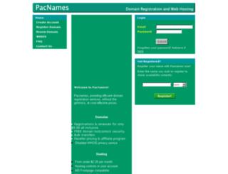 pacnames.com screenshot