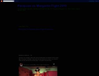 pacquiao-vs-margarito-fight-2010.blogspot.com screenshot
