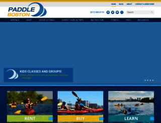 paddleboston.com screenshot