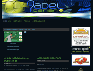 padelcanario.es screenshot