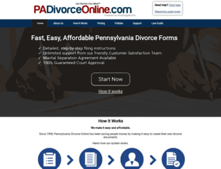 padivorceonline.com screenshot
