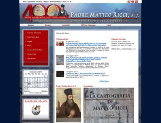 padrematteoricci.it screenshot