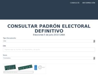 padron.defensoria.org.ar screenshot