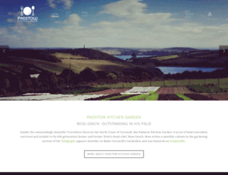 padstowkitchengarden.co.uk screenshot