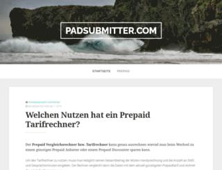 padsubmitter.com screenshot