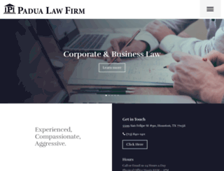 padualaw.com screenshot
