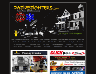 pafirefighters.com screenshot