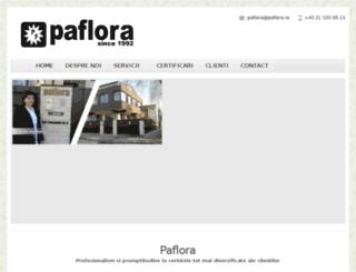 paflora.ewstudio.ro screenshot